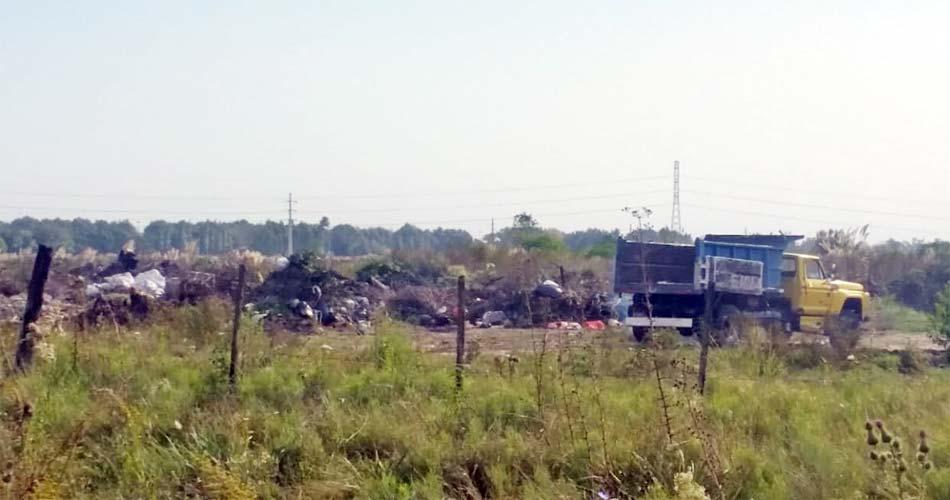 38b2e0123 Malestar en Vicente Casares por un basural donde queman residuos